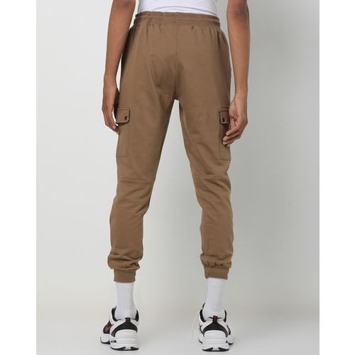 AJIO Slim Fit Joggers with Drawstring Fastening