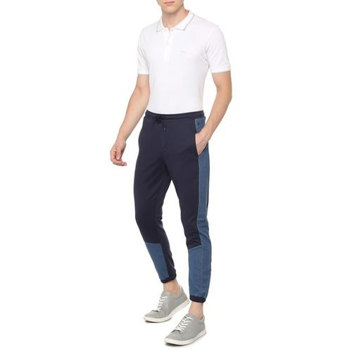 ALLEN SOLLY Mid-Rise Panelled Joggers with Insert Pockets
