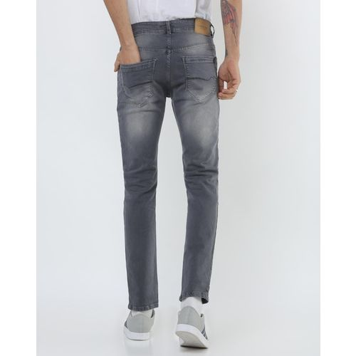 NUMERO UNO Lightly-Washed Low-Rise Slim Fit Jeans