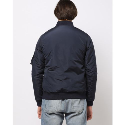 AJIO Slim Fit Zip-Front Jacket with Insert Pockets