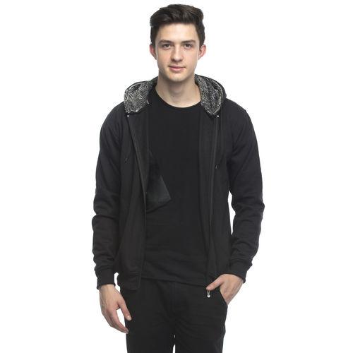 Lambency Men's Black Hooded Sweatshirt