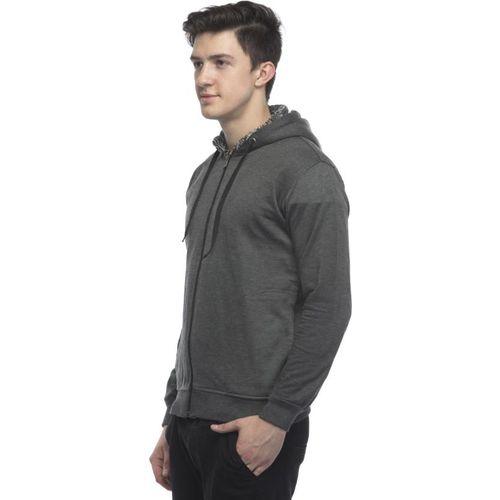Lambency Men's Grey Hooded Sweatshirts