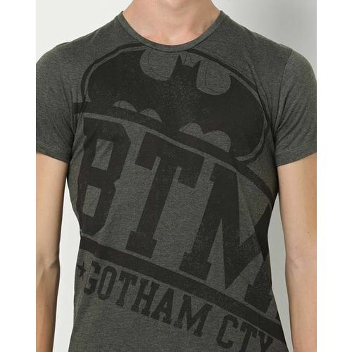 Free Authority Batman Print Crew-Neck T-shirt
