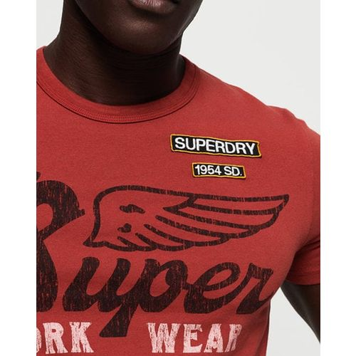 SUPERDRY Typographic Print Slim Fit Crew-Neck T-shirt