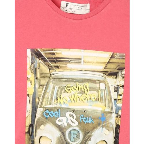 French Connection Graphic Print Slim Fit Crew-Neck T-shirt