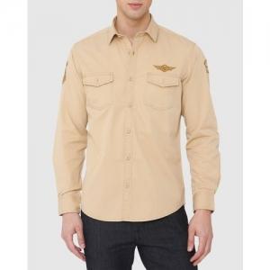 MUFTI Slim Fit Denim Shirt with Applique