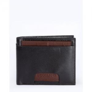 WOODLAND Textured Genuine Leather Bi-Fold Wallet