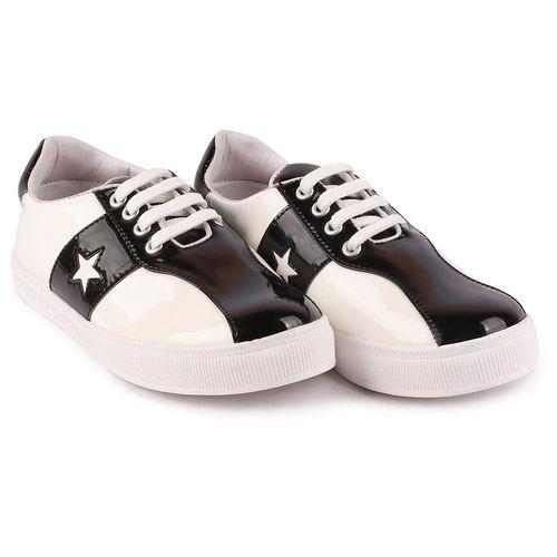Fausto Women's Black White Sneakers