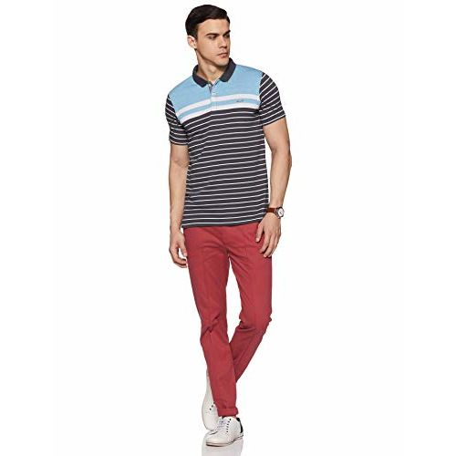 Proline Men's Striped Regular Fit Polo