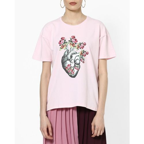 Blue Saint Graphic Print Crew-Neck T-shirt