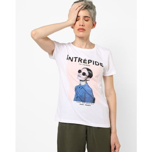 ONLY Graphic Print Crew-Neck T-shirt