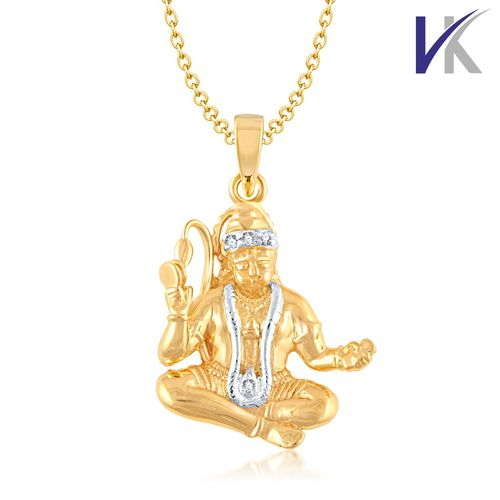 VK Jewels V. K Jewels LORD HANUMAN Pendant gold and Rhodium plated - PS1011G