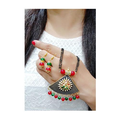 Bhagya Lakshmi Women's pride Traditional Ganesh JI Mangalsutra With Earrings For Women
