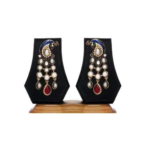Peacock Designer Earring By Zaveri Pearls