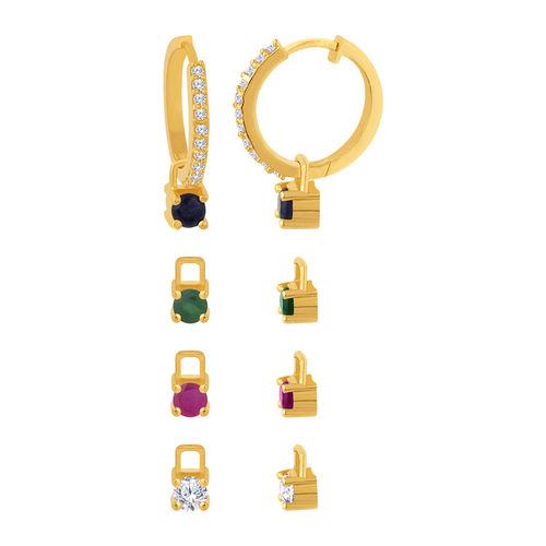 Voylla Versatile Changeable Studs Huggie Hoop Earrings