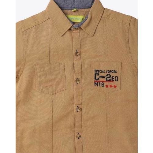 TIGERTRAIL Cotton Shirt with Patch Pockets