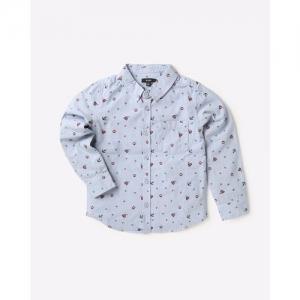 AJIO Printed Shirt with Patch Pocket