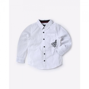 AJIO Cotton Shirt with Patch Pocket