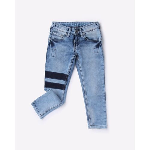Pepe Jeans Washed Slim Fit Jeans with Contrast Detailing
