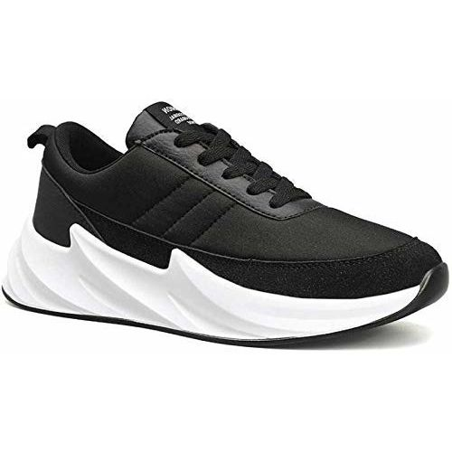 Arivo Black Synthetic Lace Up Sneakers