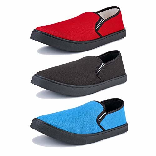 Super Multicolor Men Combo Casual Loafers & Moccasins Shoes