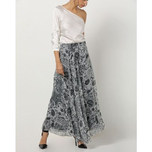 The Vanca Floral Print Flared Maxi Skirt