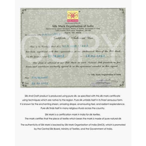 Indie Picks Handloom Bhagalpur Pure Linen Ikat Dupatta