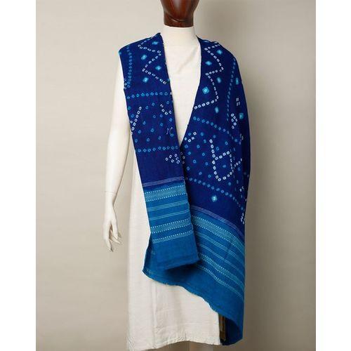 Indie Picks Kutch Handloom Pure Wool Bandini Shawl with Tassles