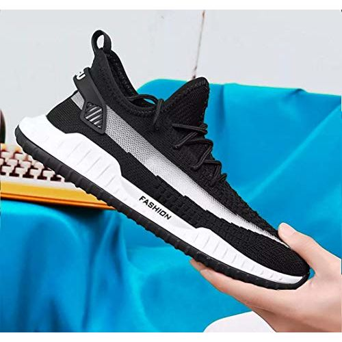 MR.SHOES Men Casual Shoes Men Sneakers Boy's Lace-Up Shoes Soft Fly Knit Breathable Increased Shoes Men Student Shoes Sneakers for Men