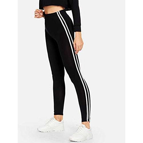 INFISPACE Double Line Cropped High Waisted Jegging for Yoga, Gym, Aerobics & Sports Wear