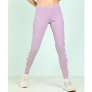 ADIDAS Solid Women Purple Tights