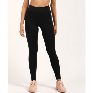 ADIDAS Solid Women Black Tights