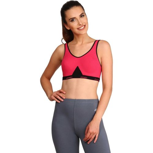 Jockey Slip On Active Sports Bra Women Sports Non Padded Bra(Pink)