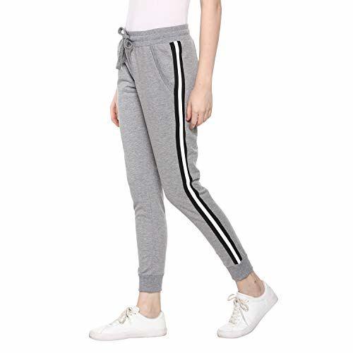 Alan Jones Clothing Women's Side Tape Joggers Track Pants