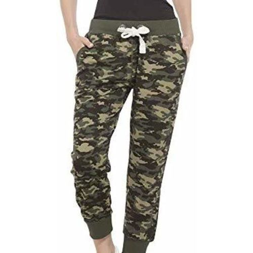 OYSHOME Army Track Pant Style Joggers Lower Sports Gym Athletic for Women Track, (Camouflage Print) Free Size 30 to 34 Fit(Color May Vary)