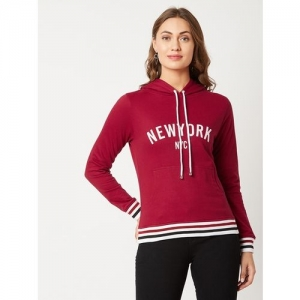 MISS CHASE Typographic Hooded Sweatshirt with Placement Stripes