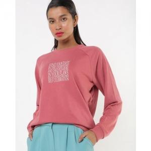 TALLY WEiJL Typographic Sweat Shirt with Raglan Sleeves