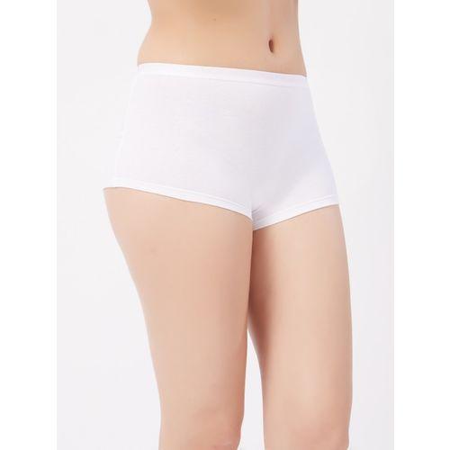 Fruit of the Loom Women Boy Short White Panty(Pack of 1)