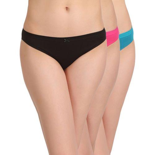 Clovia Women Bikini Multicolor Panty(Pack of 3)
