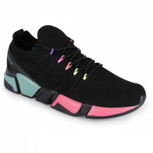 Campus Black Mesh Running Shoes