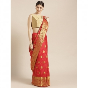 Blissta paisley kanjivaram saree with blouse