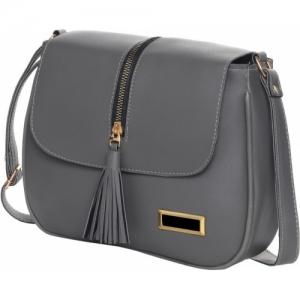 EJIS Grey PU Sling Bag