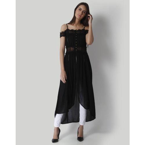Vero Moda Casual Sleeveless Solid Women Black Top