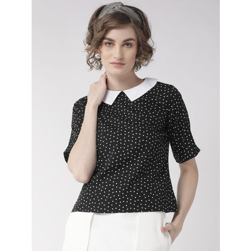 Style Quotient Women Black & White Printed Regular Top