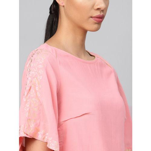 Biba Women Pink Solid Top