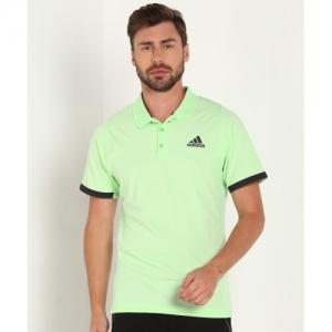 ADIDAS Green Polyester Polo T-shirts