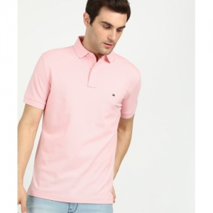 Tommy Hilfiger Pink Polo Neck T-shirt