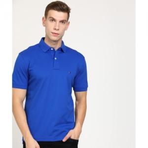Tommy Hilfiger Blue Polo Neck T-shirt