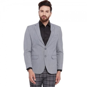 Canary London Self Design Single Breasted Casual Men Blazer(Grey)