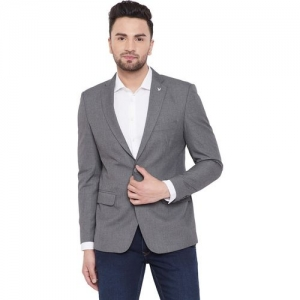Canary London Solid Single Breasted Casual Men Blazer(Grey)